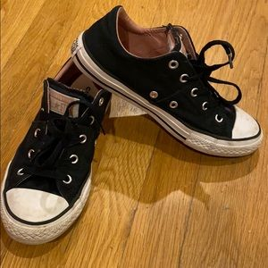 Girls black converse sneakers